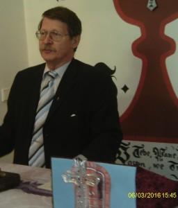 Europoslanec Ing. Jaromír Kohlíček, CSc. při svém velice zajímavém projevu