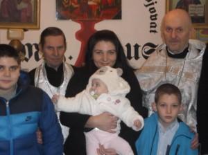 První křtiny v roce 2016 malé Boženky a Pavlíky